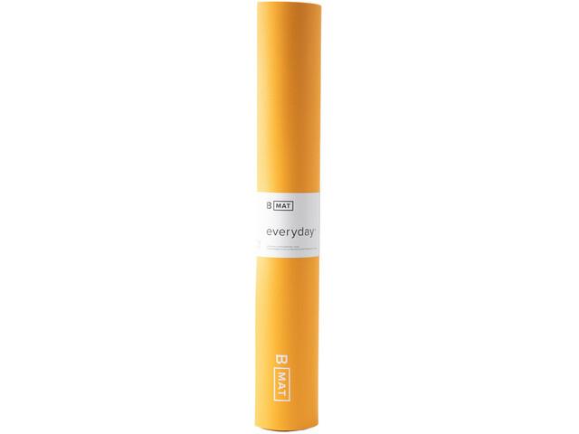 B Yoga B MAT Everyday Yoga Mat Long 215x66cm x 4mm, amarillo
